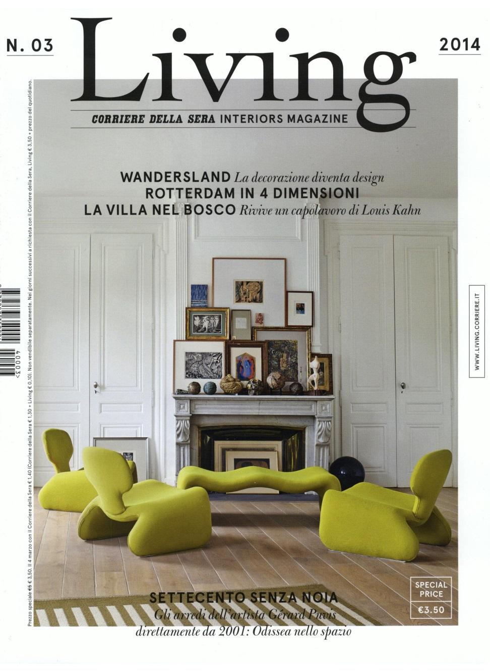 moroso living corriere della sera interiors magazine